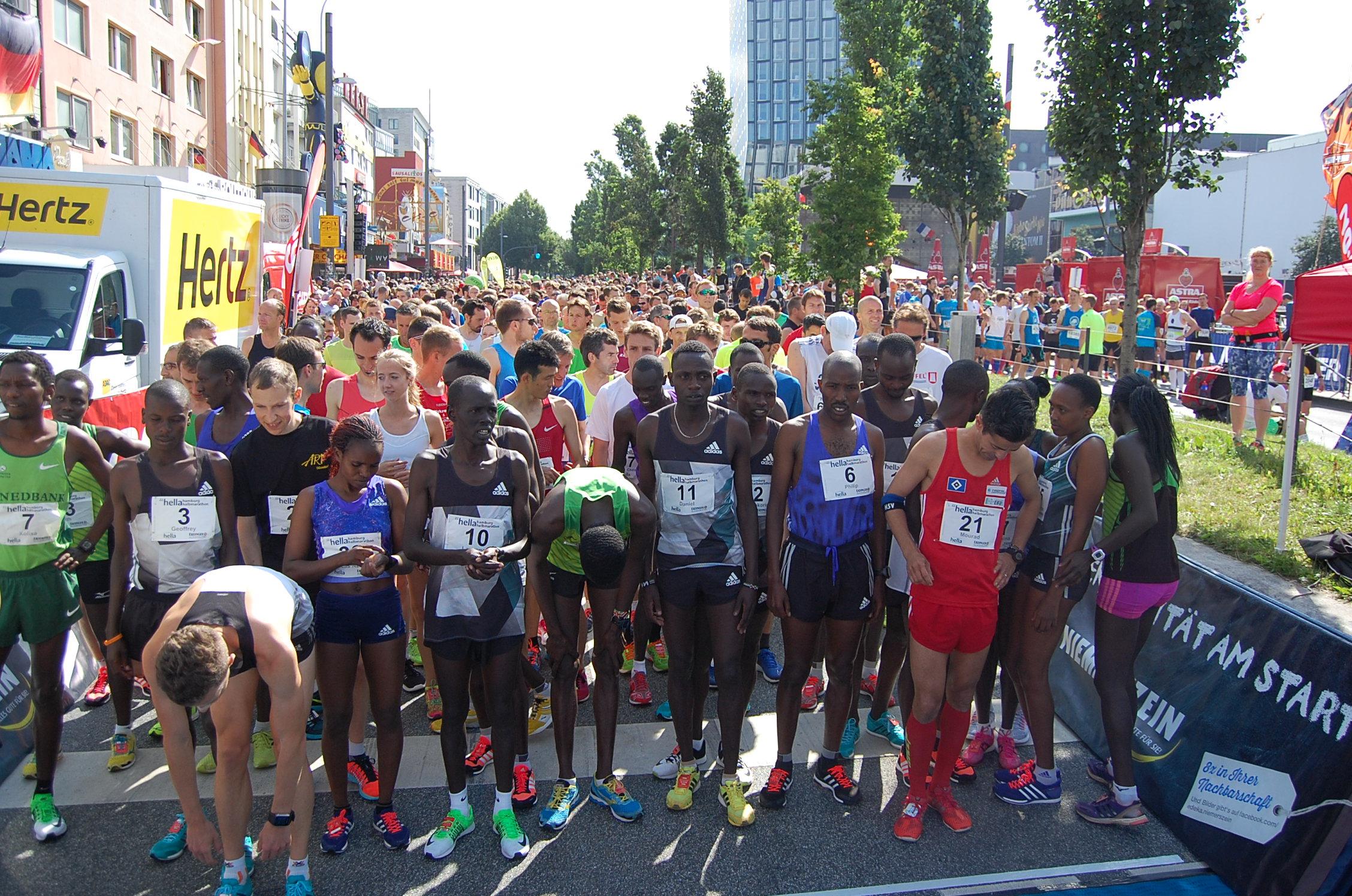22. hella Halbmarathon: Startaufstellung